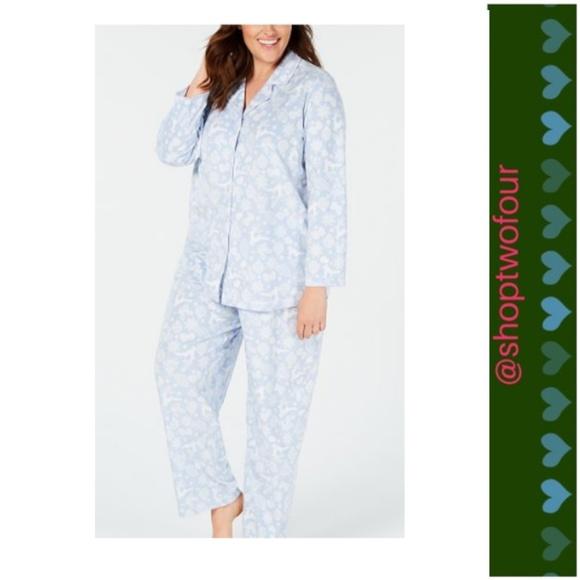 271f57b2ed9c Charter Club Intimates & Sleepwear   Macys Womens Pajama Set Blue ...
